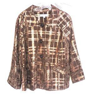Birch Hill Leopard plaid Jacket XL